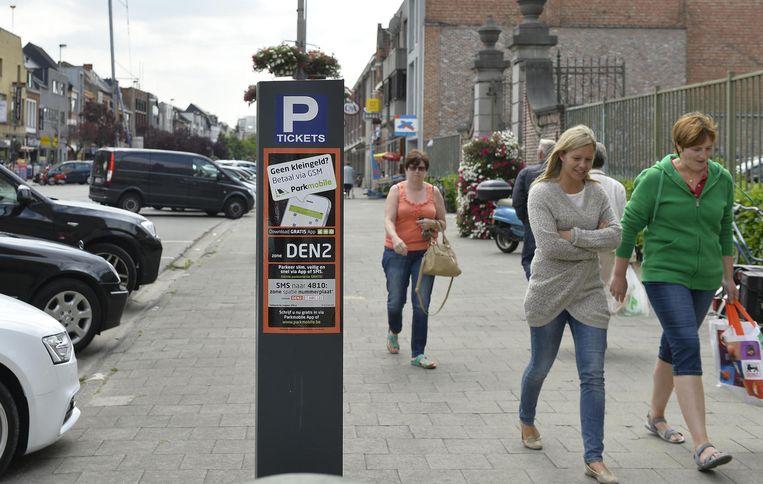De parkeerautomaten, zoals deze op de Oude Vest, moeten tijdelijk niet gebruikt worden.