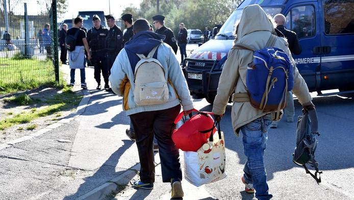 De laatste migranten in Calais.