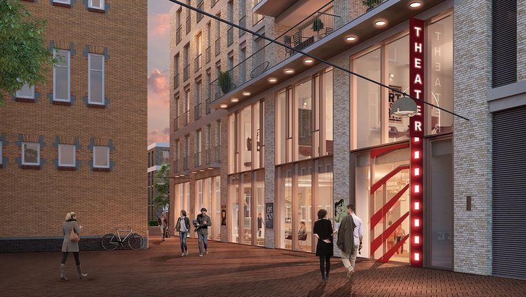 Impressie van het nieuwe CC Amstel, dat wordt gebouwd aan het A. Cullinanplein Beeld CC Amstel