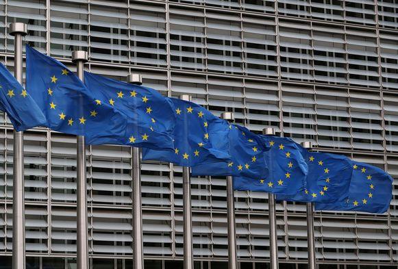 Europese vlaggen bij de EU-Commissie in Brussel.