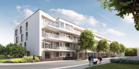 De nieuwbouwappartementen van The Forest op de Van Volxemlaan.
