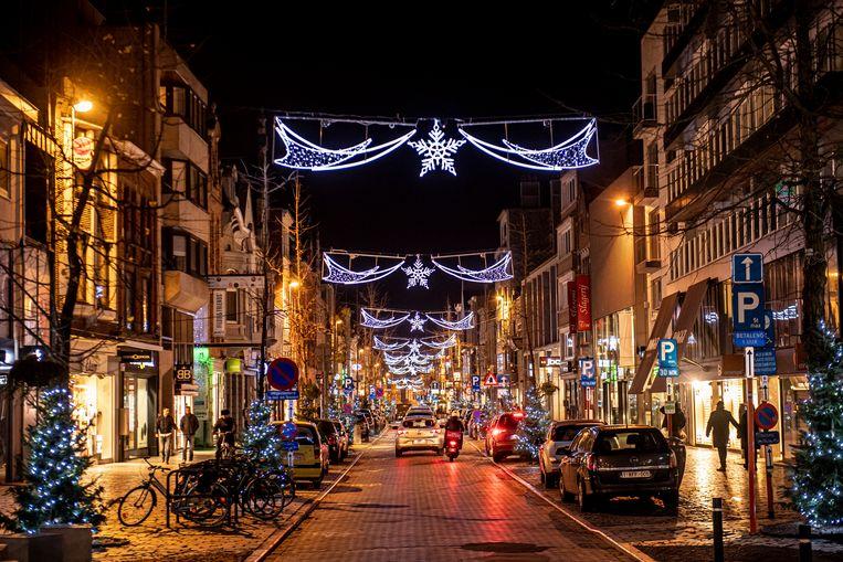 Sfeervolle verlichting in de Ooststraat.