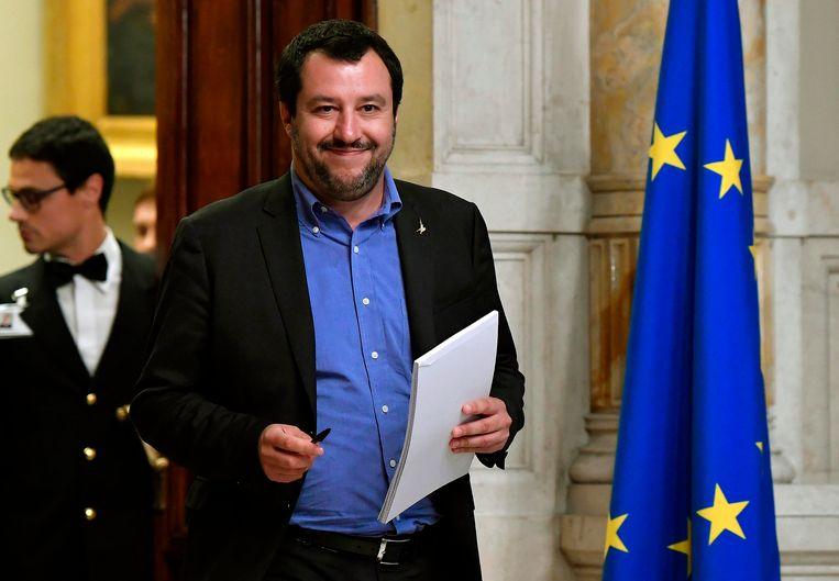 Matteo Salvini, leider van de de extreemrechtse Lega. Beeld AP