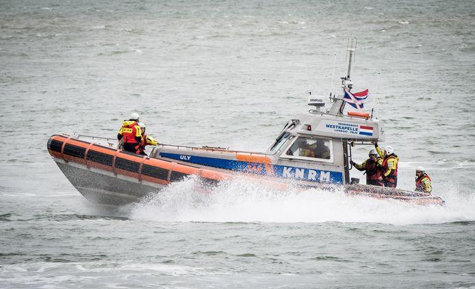 Een reddingsboot van de KNRM op archiefbeeld.