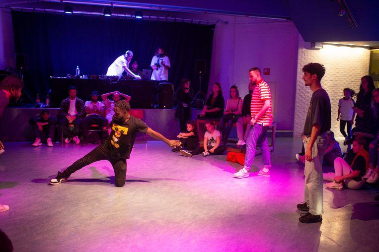 De breakdance competitie.