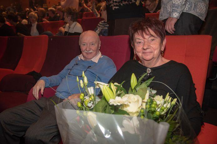 Concert Willy Sommers Wetteren : bloemen voor 60ste huwelijksverjaardag Mariette en Lucien Beeckman.