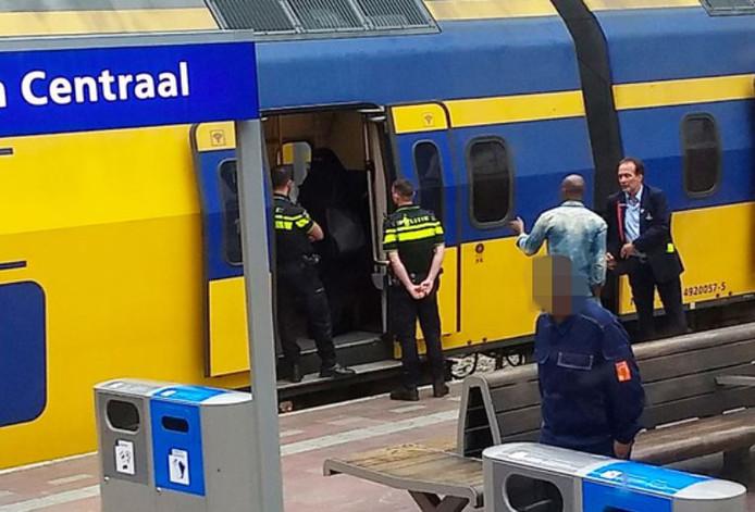 De trein waarin de vrouw zich bevond.