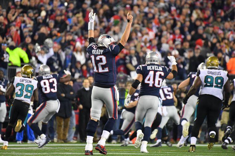 De New England Patriots versloegen de Jacksonville Jaguars op weg naar de finale.