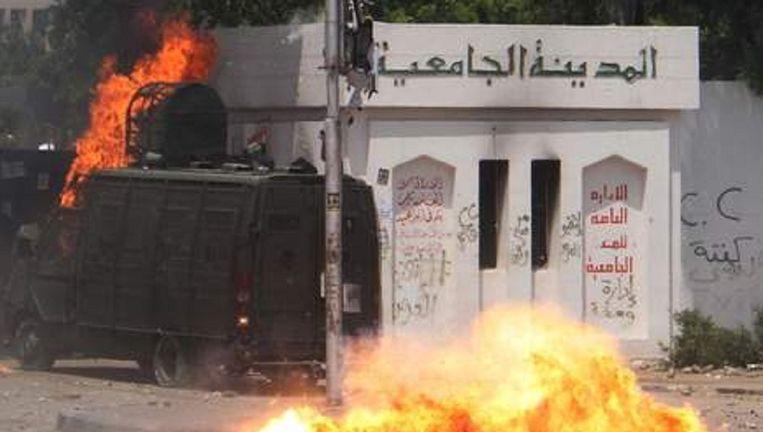 Eerder deze week was het ook al onrustig bij de Al Azhar universiteit.