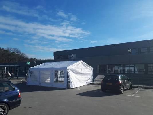Een van de tenten bij het CWZ in Nijmegen.