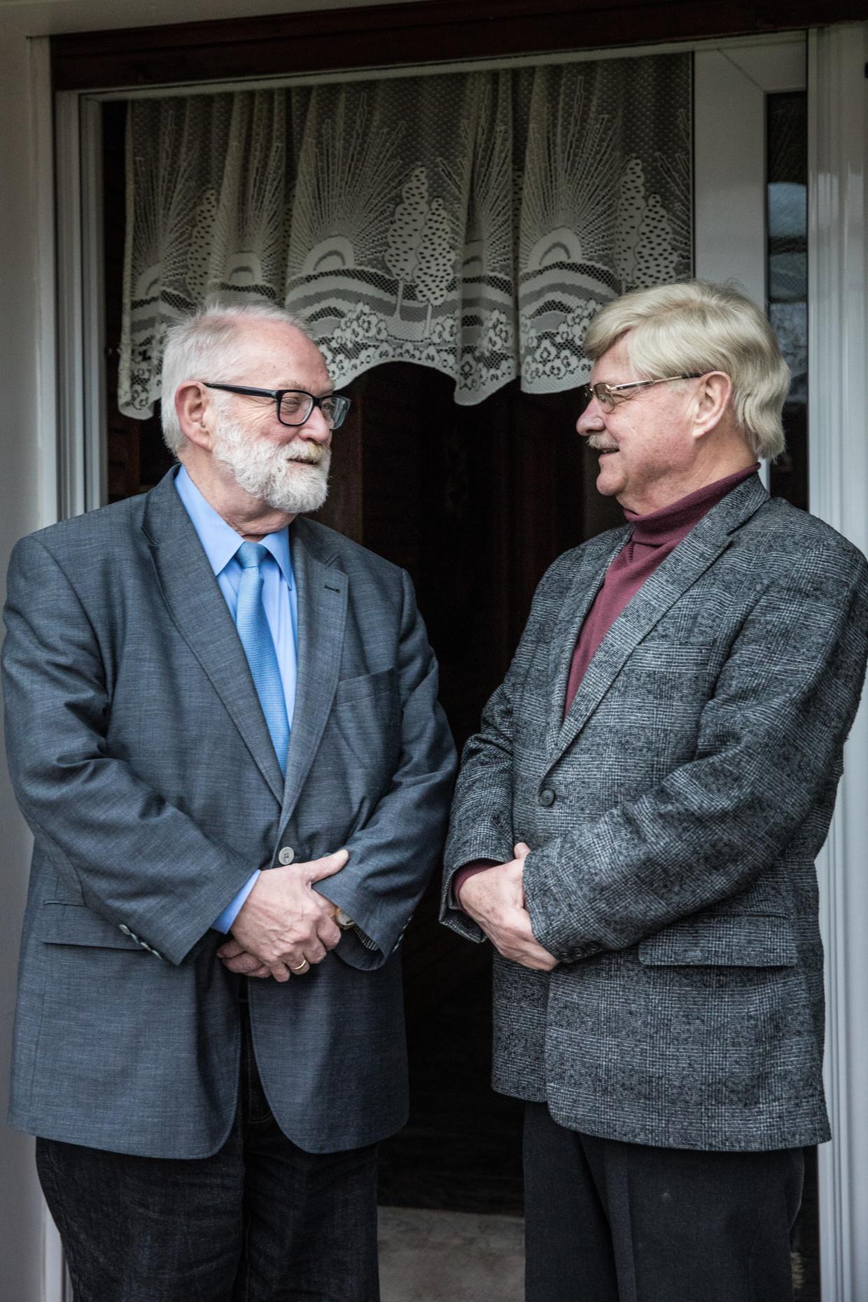 Hans-Joachim Paul (links) en Norbert Schwanengel uit Herne.