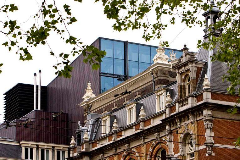 De nieuwbouw van de Amsterdamse Stadsschouwburg (ANP) Beeld