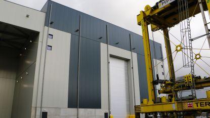 Nieuwe garage op MPET terminal voor onderhoud van containerliften