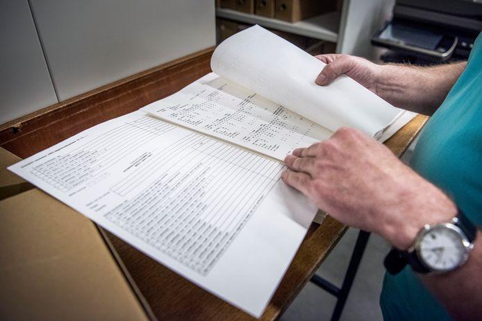 In twee archieven ligt vijfhonderd meter aan cijferlijsten.