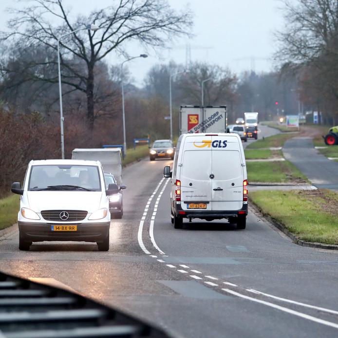 De nieuwe rondweg om Lochem loopt straks onder meer over de Kwinkweerd.