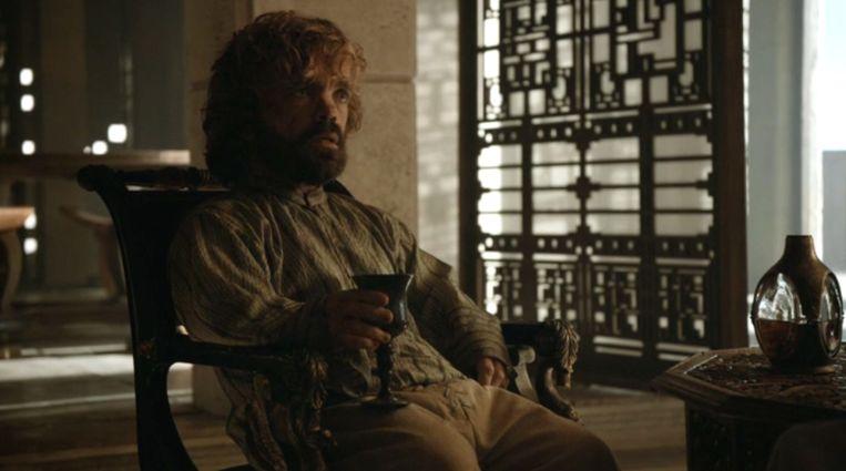 Tyrion aan de wijn met Daenerys Beeld