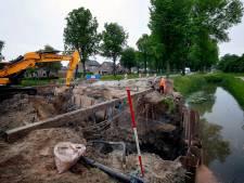 Chaotische toestanden blijven uit tijdens werk aan nieuwe duiker in Werkendam