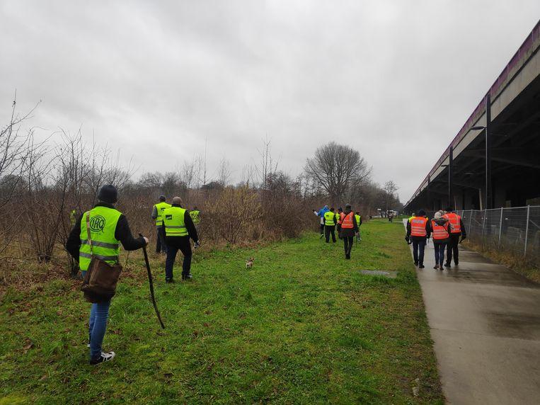 De vrijwilligers kamden de Gentbrugse Meersen grondig uit.