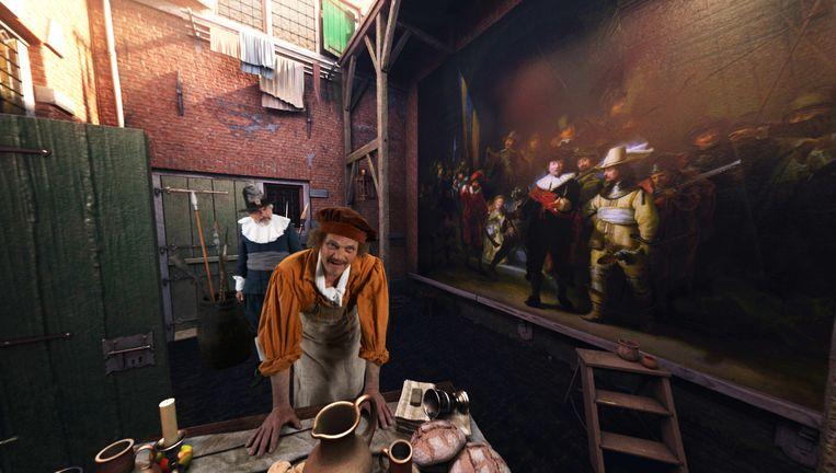 De Nederlandse acteur Reinout Bussemaker speelt Rembrandt in de app. Beeld Meeting Rembrandt/Force Field