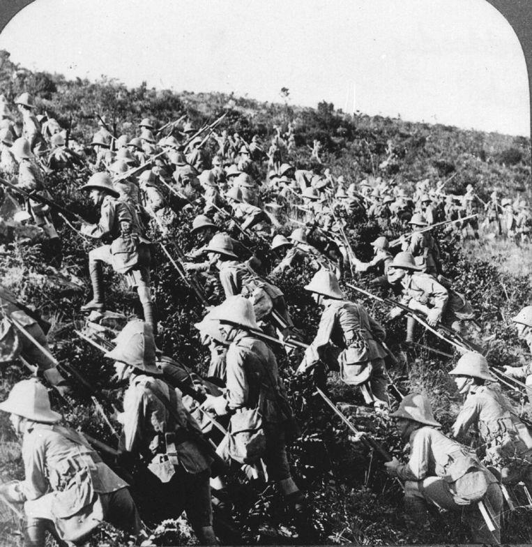 De Britse 29ste Divisie tijdens de Slag om Gallipoli. Beeld anp