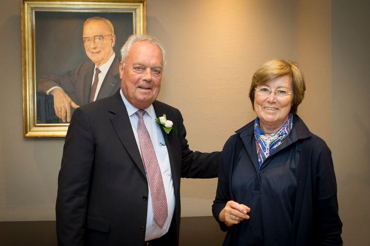 Roger Vanden Stock met vrouw Kiki op hun vijftigste huwelijksverjaardag.