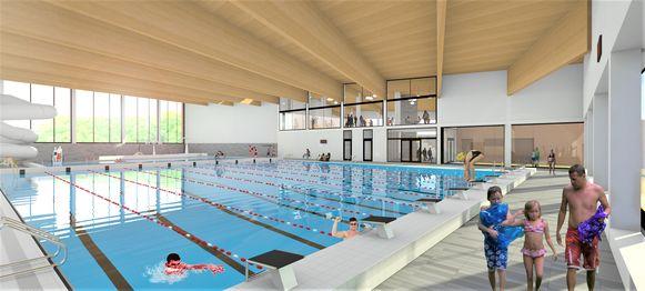 Zo zal het zwembad eruit zien.