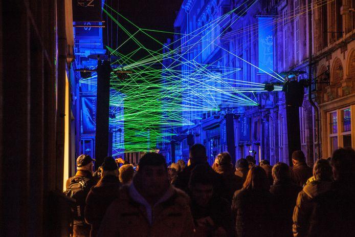Een blikvanger van één van de vorige Lichtfestivals in Gent