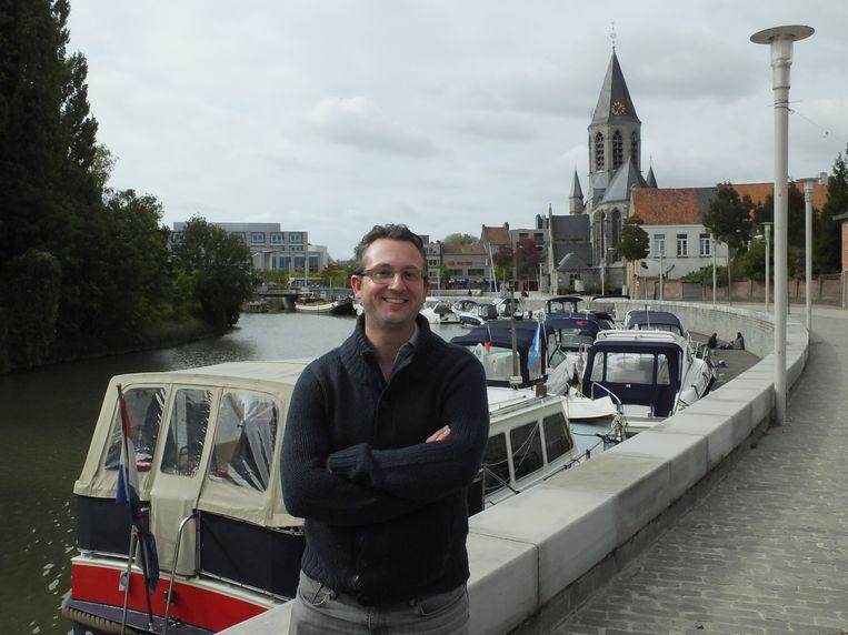 Steven Van de Putte aan de Leiedam.