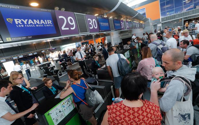 Passagiers van Ryanair.