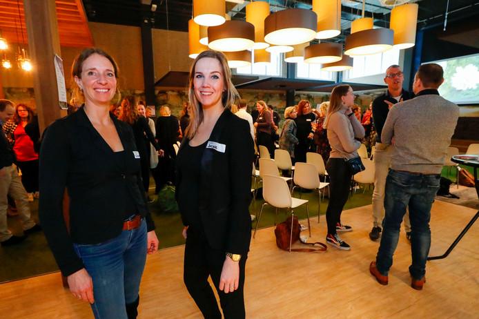 Chantal van Spaendonck (l) en Joyce de Laat (van Slimmer Leven).