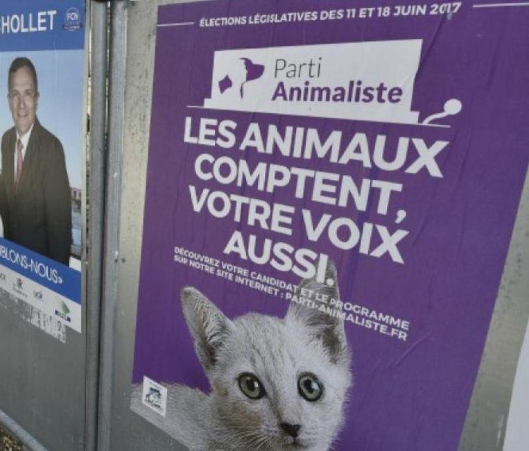 De Parti Animaliste in Frankrijk bestaat sinds maart 2016. Beeld