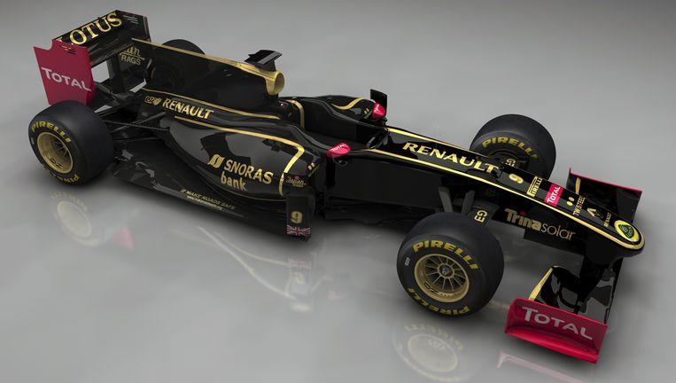 De auto van Lotus-Renault in 2011, het laatste seizoen dat Renault als apart team meedeed aan de F1. Beeld ap