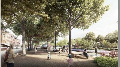 Zo zullen de nieuwe gedempte Zuiderdokken er binnenkort uitzien: drie 'tafels', vier pleinen en heel véél groen