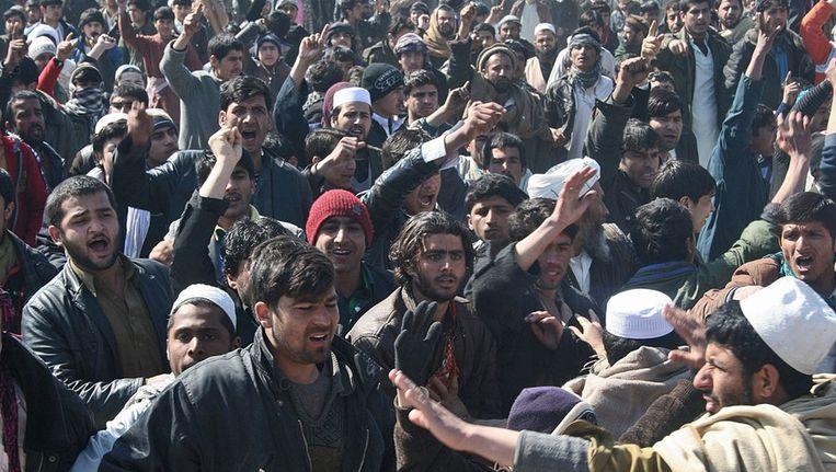 Protest tegen koranverbranding Beeld afp