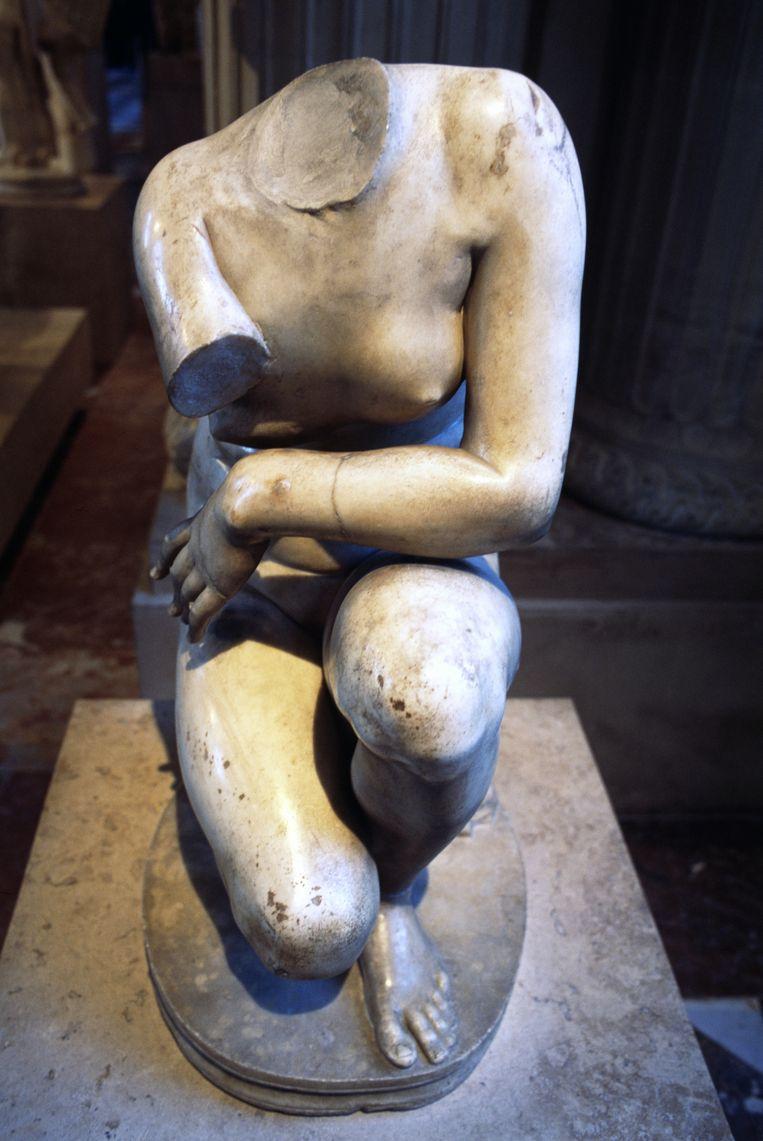 Knielende Venus uit het Louvre, waarop Cubières verliefd werd. Beeld Getty Images