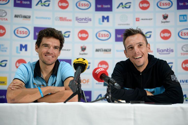 Greg Van Avermaet en Philippe Gilbert