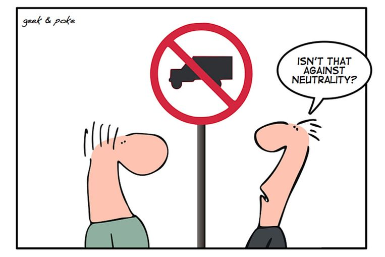 Netneutraliteit (Creative Commons geekandpoke.typepad.com) Beeld