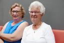 Mevrouw Bergman (links) en mevrouw Renders zijn blij dat Helvoirt opgenomen wordt door de gemeente Vught.
