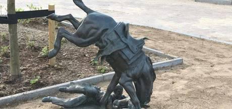 Bronzen beeld van 70 kilo gestolen uit Pannerdense tuin