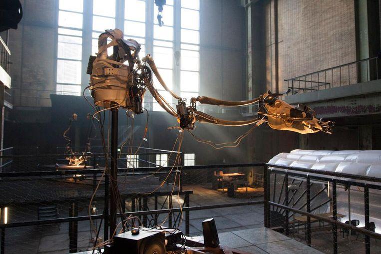 Een installatie van Christiaan Zwanikken Beeld Adriaan van der Ploeg