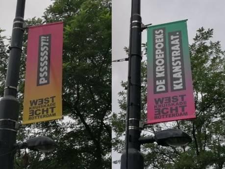 'Racistische' vlag op West-Kruiskade verwijderd na ophef: 'Wij dachten dat Rotterdam dit wel aankon'