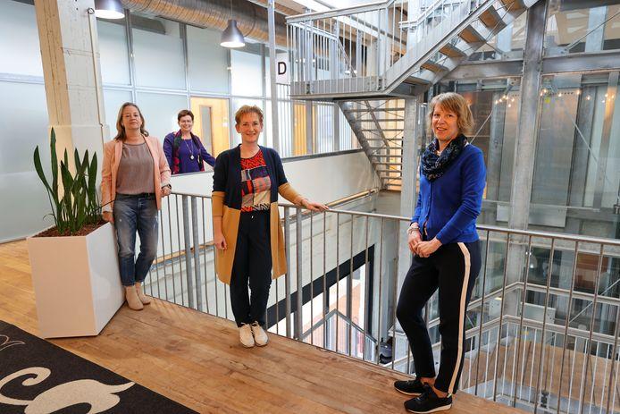 Medewerkers van de GGD, vlnr: Jeanine Treffers, Ellen van Bree, Monique Mentjens en Daniëlle Brunenberg.