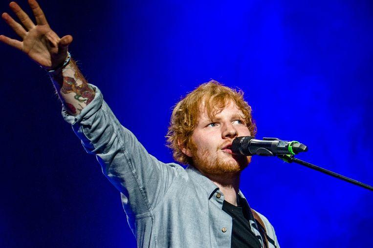 Ed Sheeran tijdens een optreden in de Ziggo Dome te Amsterdam. Beeld ANP