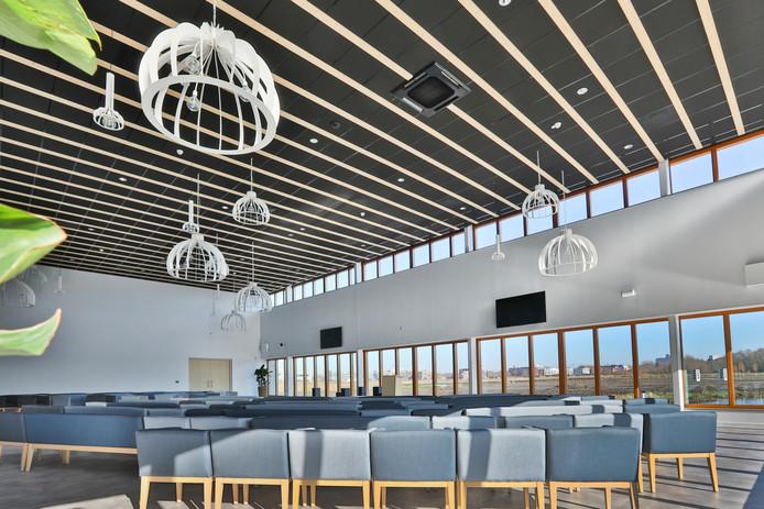 Het onlangs gerealiseerde crematorium van Respectrum in Eelderwolde. Het nieuw te bouwen crematorium op Kranenburg zou er ongeveer net zo uit gaan zien.