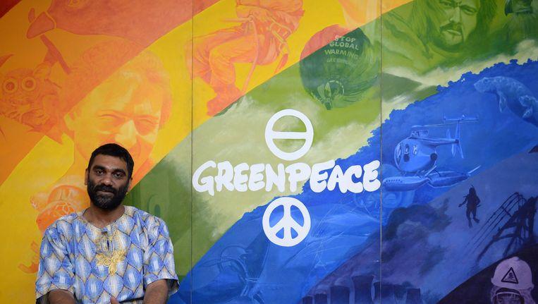 Kumi Naidoo, directeur Greenpeace International. Beeld afp