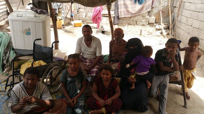 Dankzij Stichting Vluchteling heeft het gezin van Omar weer te eten.