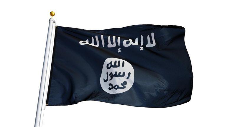 De vlag van de Jihad Beeld Shutterstock