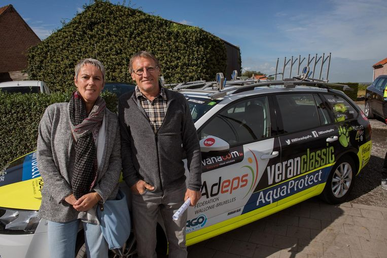 Desiré Beeckaert en Pierre Lampaert, de neef van profrenner Yves Lampaert, hebben postgevat in Loker.