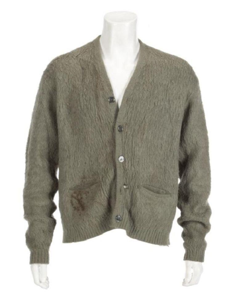 Vest die Kurt Cobain droeg tijdens MTV Unplugged 1993. Beeld Juliens Auctions