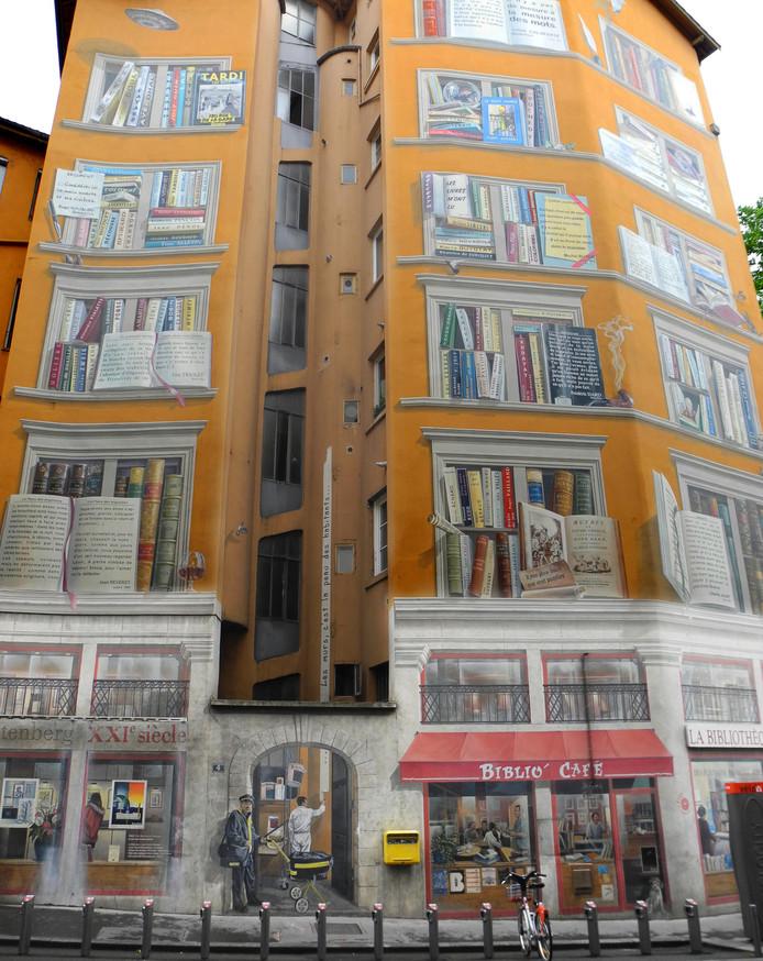 In het Franse Lyon zijn ze gek op grote muurschilderingen. Daar kan de Utrechtse JanIsDeMan volgens deze fotograaf nog een puntje aan zuigen.